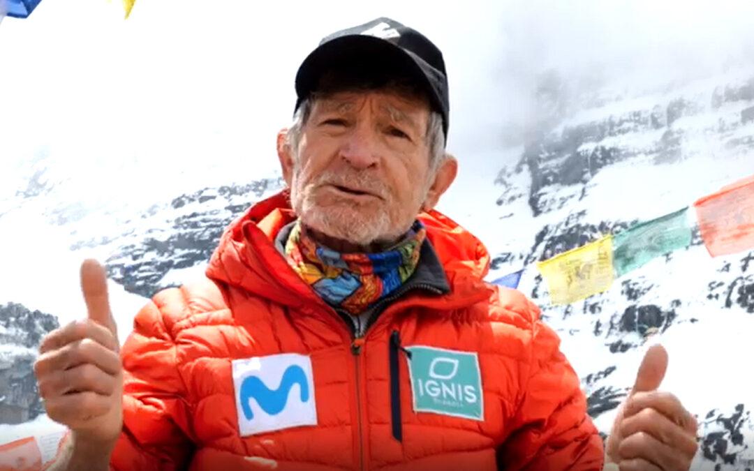 El veterano alpinista Carlos Soria, embajador ilustre del Trailcáncer 2021