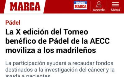 El diario MARCA y la web especializada All4Padel, con el X Torneo Padelcáncer