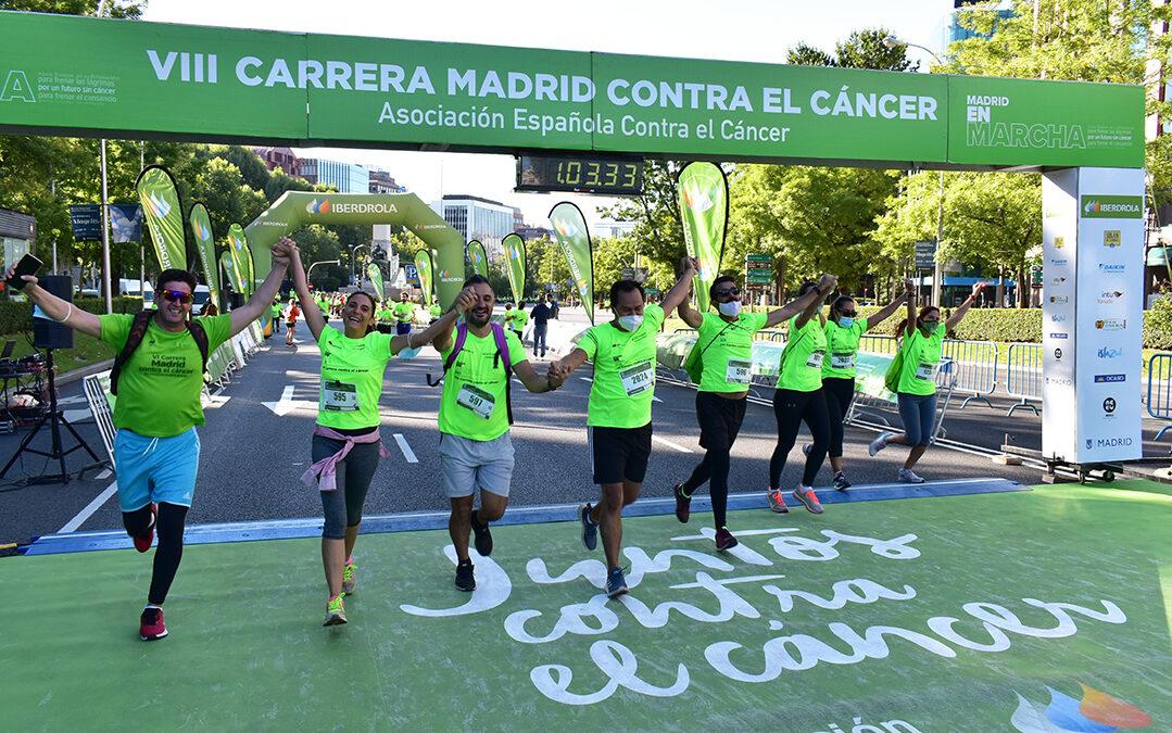 Miles de participantes regresan al asfalto de Madrid para dejar su huella contra el cáncer